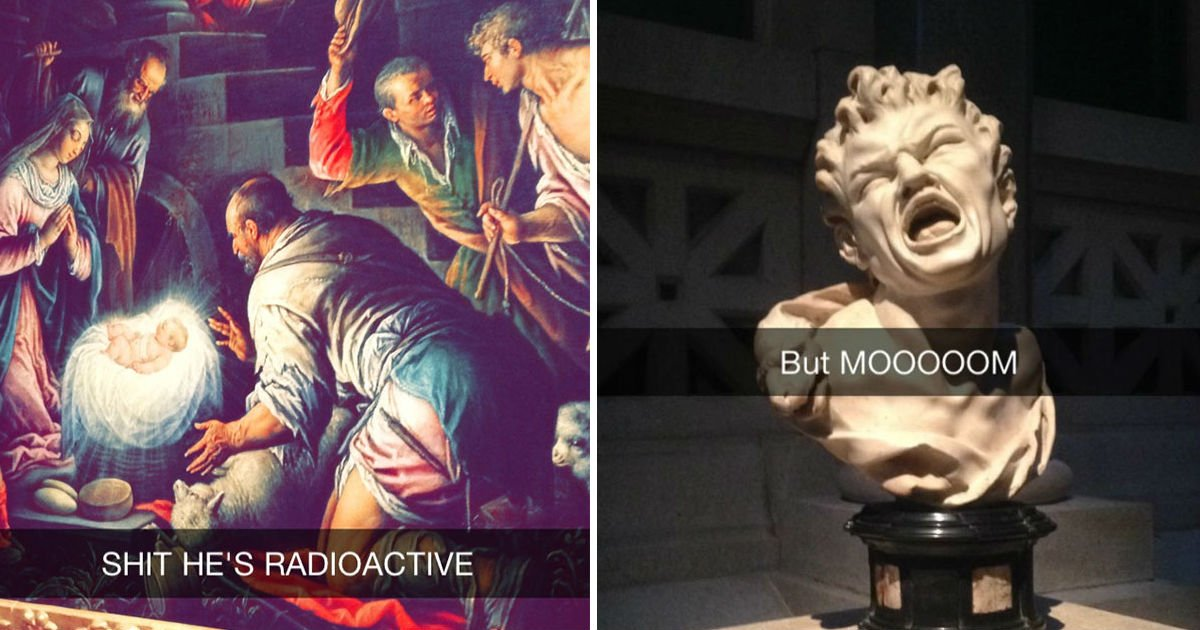 museum snapchats.jpg?resize=300,169 - 15+ Museum Snap Chats That Turn Art History To A Fun Zone Again