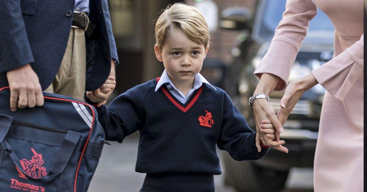 portada 10.jpg?resize=412,232 - El suntuoso primer día de clases del pequeño príncipe George