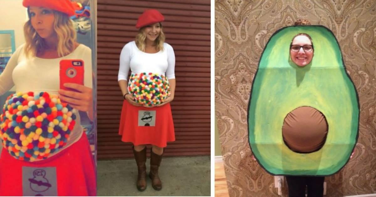 pregnanthalloweencostume.jpg?resize=412,232 - Confira as incríveis fantasias de Halloween dessas 24 grávidas super criativas!