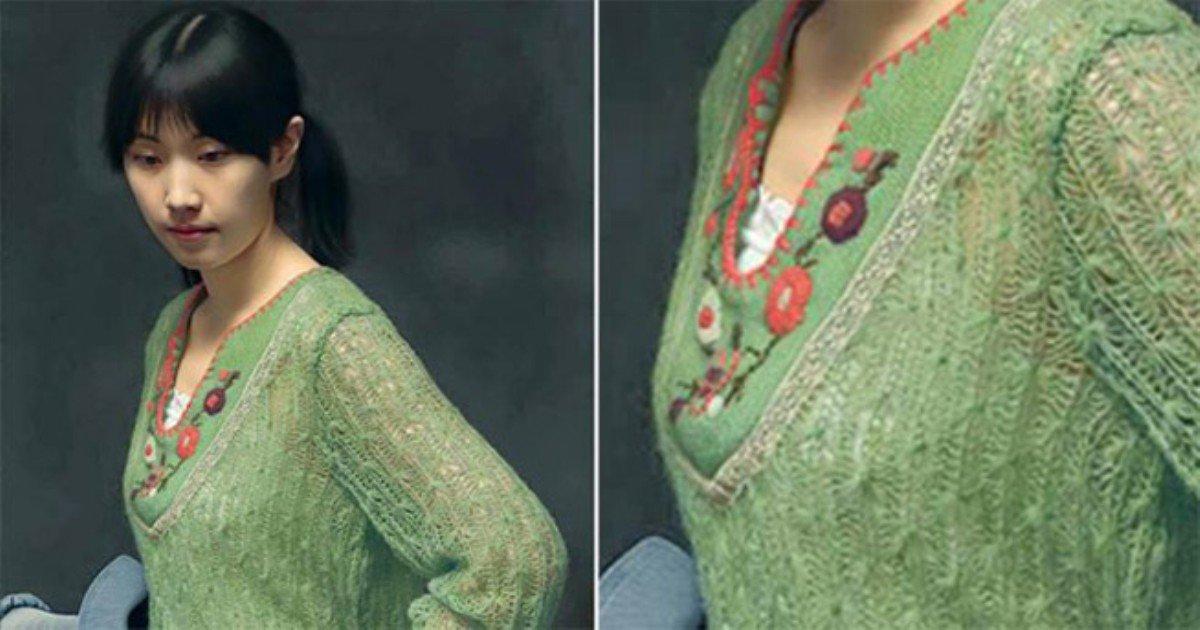 t28 22 - 당신의 눈을 의심케 하는 초록 스웨터를 입은 여성, 인터넷 상 '화제'