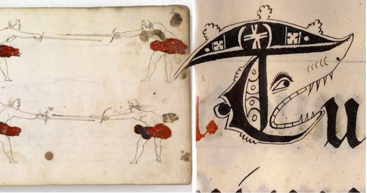 """12135 - """"옛날이나 지금이나"""" 중세 유럽 학생들의 '고퀄' 교과서 낙서 (+11)"""