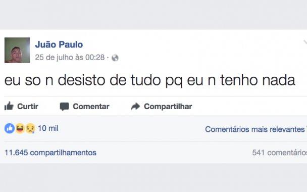 2 5 1.png?resize=412,232 - As 10 melhores postagens de Juão Paulo, o filósofo moderno do Facebook
