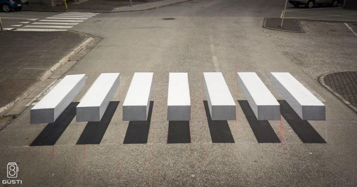 3d pedestrian crossing island 2 59f03455342f2  880.jpg?resize=412,232 - 아이슬란드에서 보행자를 보호하려고 도입한 '횡단보도'