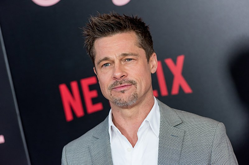 """NEW YORK, NY - JUNE 08: Brad Pitt attends the New York premiere of """"Okja"""" at AMC Lincoln Square Theater on June 8, 2017 in New York City. (Photo by Roy Rochlin/FilmMagic)"""