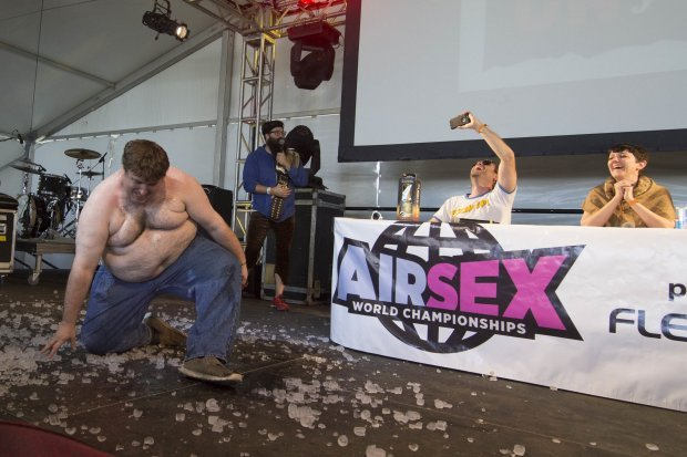 pri 50487447 - It's A 21st Century Thing: Air Sex Championship Is The New Craze In Town