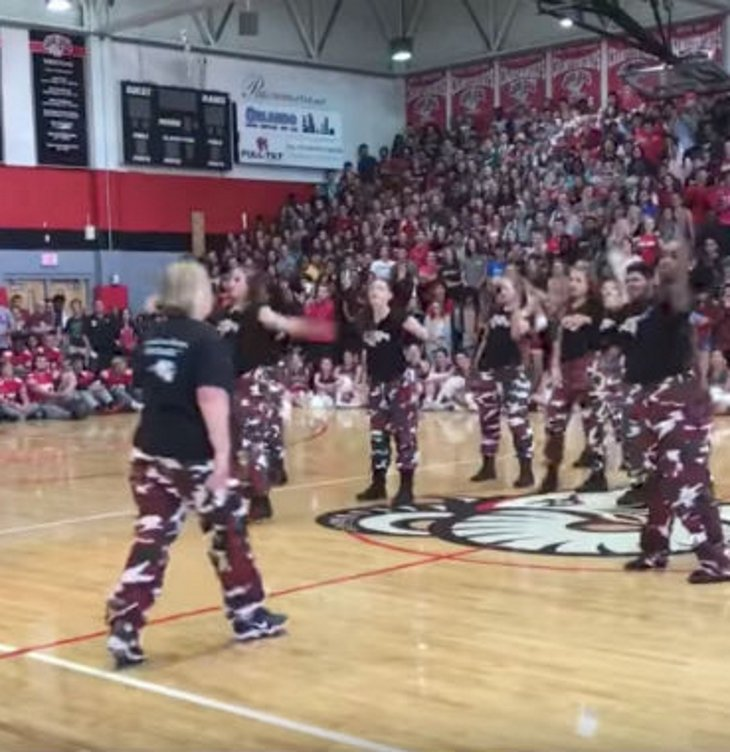 step1 - First Thing This High School Principal Did When She Came To School Was To Call The School's Dance Team