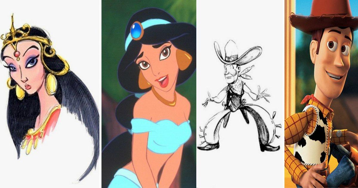 antes - Confira como eram os primeiros esboços de alguns personagens da Disney