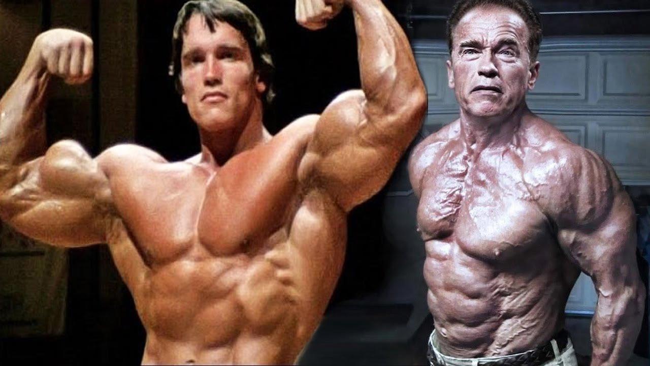 arnold then now 1 - ¡No creerás como lucen actualmente los 5 ganadores de Mr. Olympia!