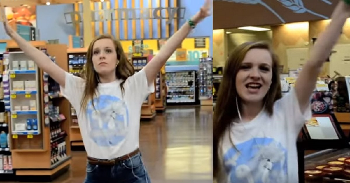 asdfafasdfadf 1 - She Dances In Grocery Store As If No One's Watching, And Makes Everyone's Day
