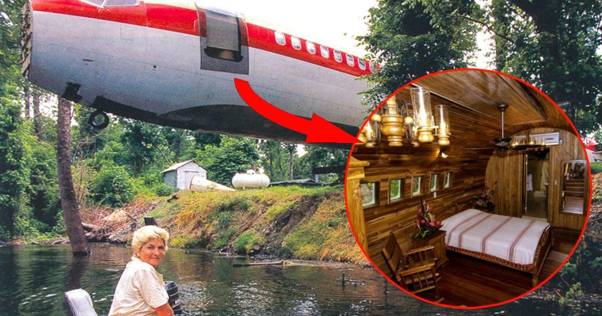 aviaofin.jpg?resize=1200,630 - Mulher constrói própria casa dentro de avião