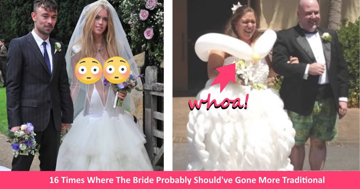 badweddingdresses - 16 Times Brides Should've Picked A Different Wedding Dress Instead