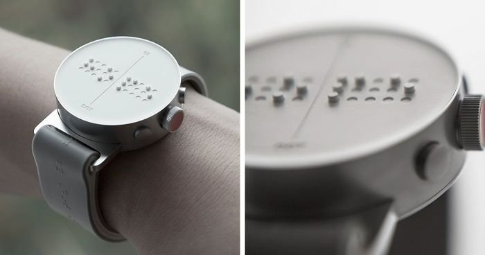 blind people braille smartwatch dot fb3  700 png.jpg?resize=648,365 - Blinds Can Feel Messages on SCREEN: World's First Braille Smartwatch