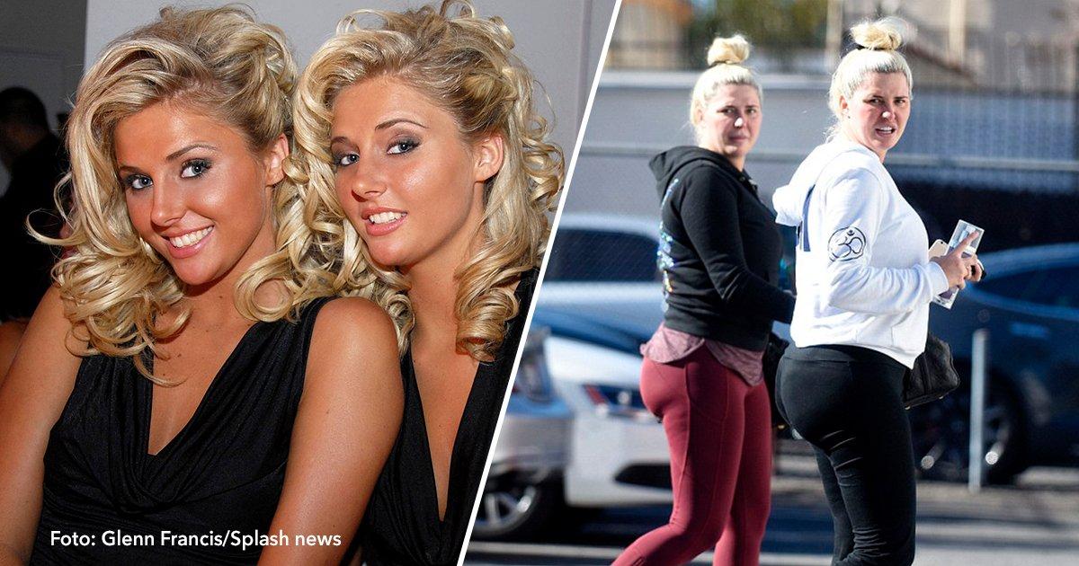 cove9 2.jpg?resize=1200,630 - Gêmeas que viviam na Mansão Playboy no passado lutam com o sobrepeso nos dias de hoje