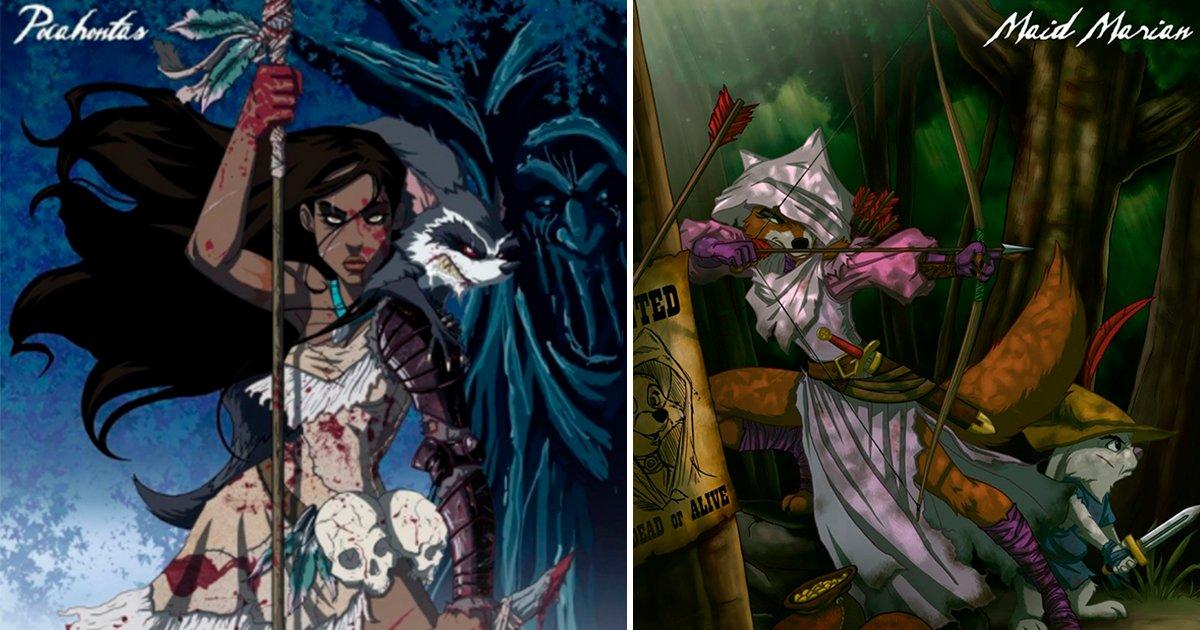 cover 12.jpg?resize=1200,630 - Si las Princesas de Disney fueran brujas malvadas se verían así