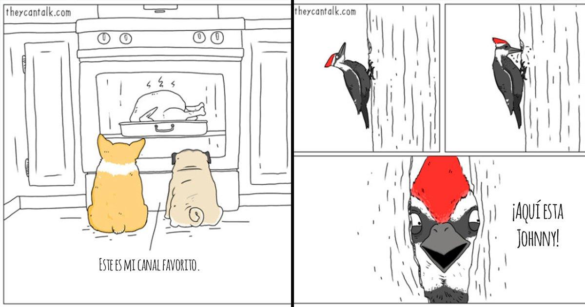 cover 38 - 15 divertidas ilustraciones que nos muestran que dirían los animales si pudieran hablar