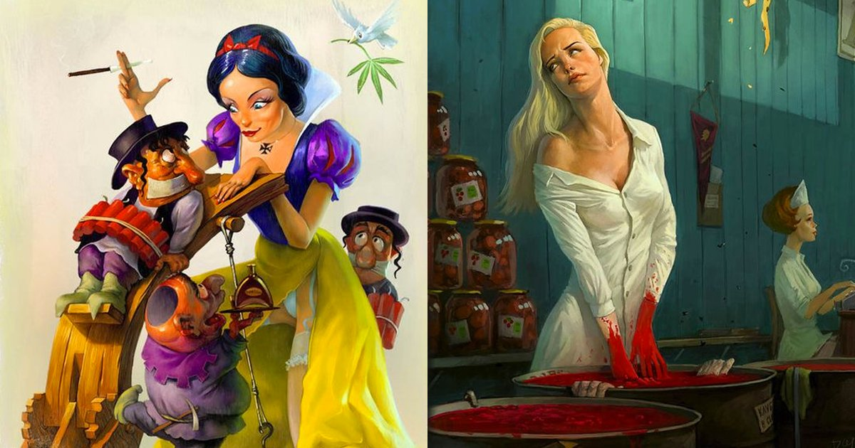 e69caae591bde5908d 1 25.png?resize=648,365 - 俄羅斯畫家筆下的「大尺度暗黑童話」看不懂也不要問!