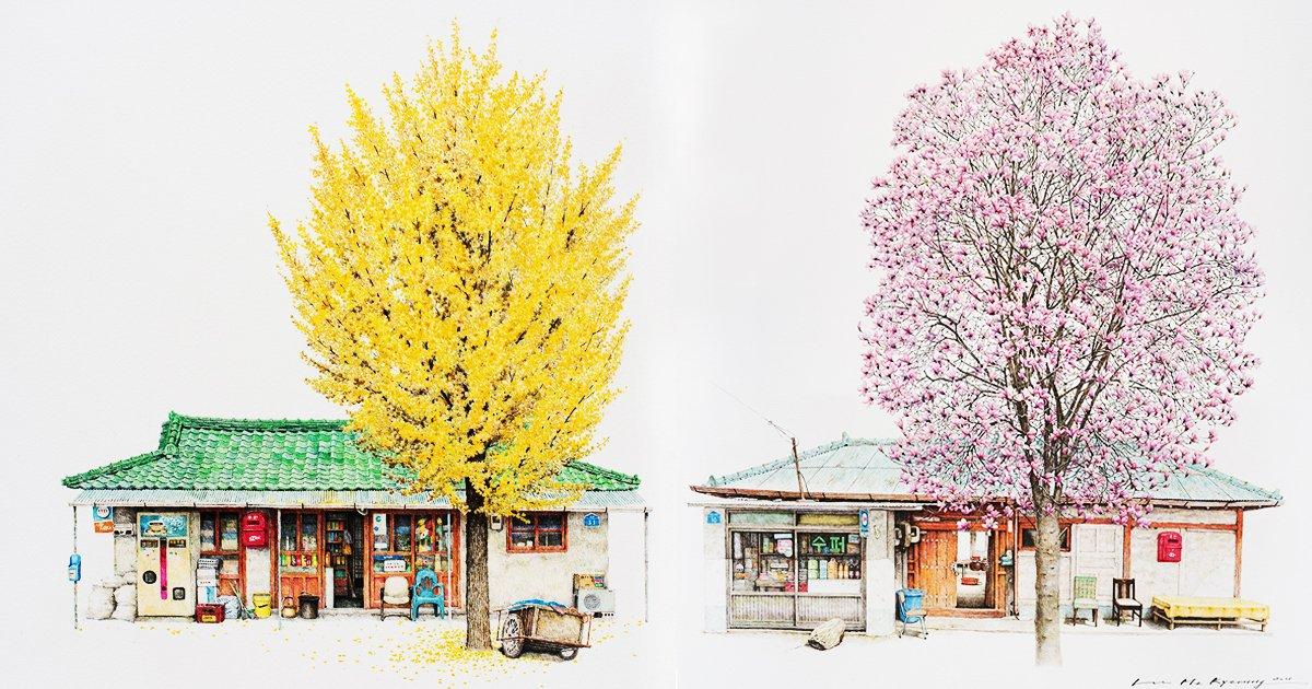 eab3b5ec9ca0 24.jpg?resize=1200,630 - 해외에서 화제가 된 한국인 화가의  '구멍 가게'를 담은 풍경 작품들(+14)