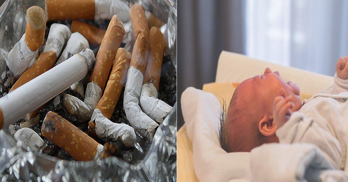 eb8bb4ebb0b0ec9584eab8b0 - 실내 흡연 즐긴 아빠 때문에 '폐렴'으로 응급실 간 1살 아기