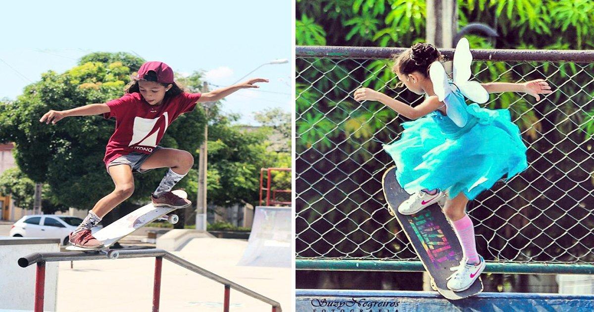ec8db8eb84ac 14 1 - Garota brasileira viraliza ao fazer manobras incríveis com o skate vestida de fada