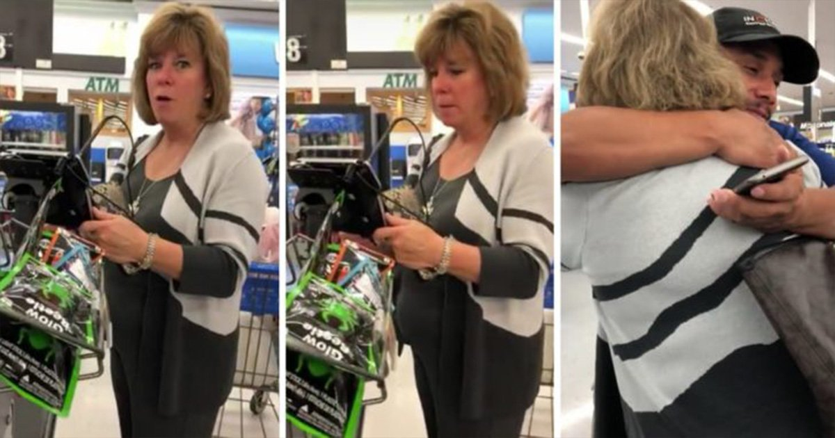 ec8db8eb84ac 19 - 'Sweet Angel' Who Paid For Man's Groceries At Walmart Has Been Identified And Praised