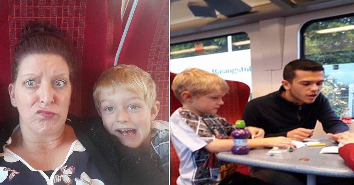 ec8db8eb84ac 2.jpg?resize=300,169 - Mom Panics As Her Son Has Meltdown In Middle of Train Ride, Stranger Walks Over
