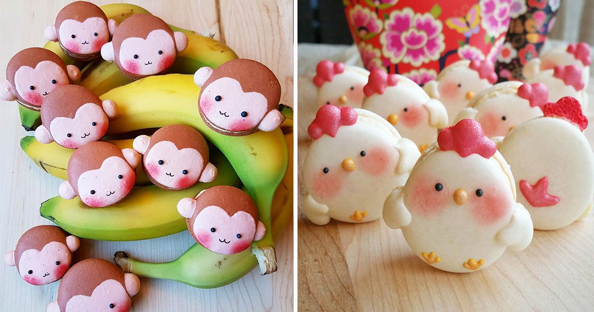 ec8db8eb84ac11.jpg?resize=300,169 - Animal Macarons Are A Thing, And They're Too Cute To Eat