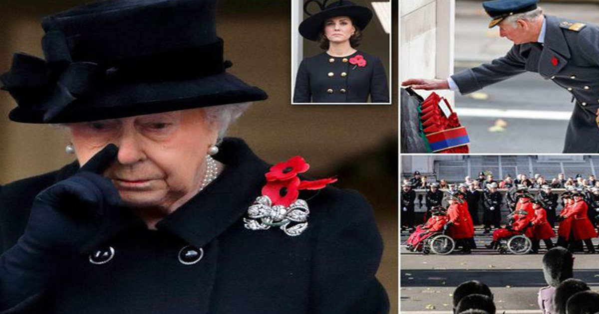 ec8db8eb84ac15.jpg?resize=412,232 - Queen Wipes Tears As She Hands Over The Duty Of Wreath-Laying To Prince Charles On Remembrance Day