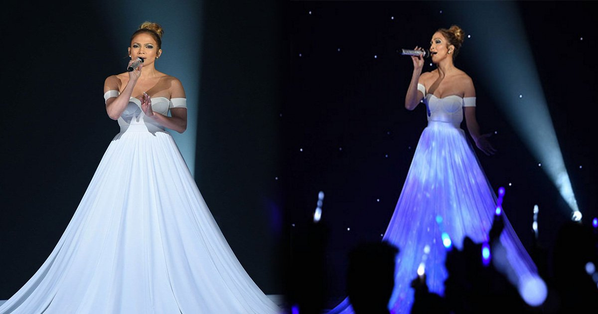 ec8db8eb84ac5 11.jpg?resize=412,232 - Jennifer Lopez Wears Normal-Looking White Dress Then The Camera Zooms Out.