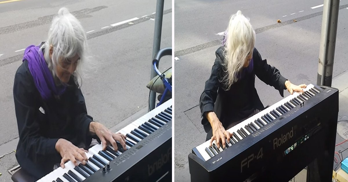 ec8db8eb84ac9 - Elderly Woman Decides To Play Street Piano, and It Sounds Straight From Heaven