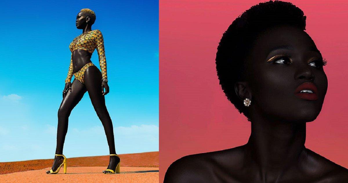 eca09cebaaa9 ec97862ec9d8c 2.png?resize=412,232 - 'A Rainha Negra' rompe estereótipos com sua linda e intensa pele negra
