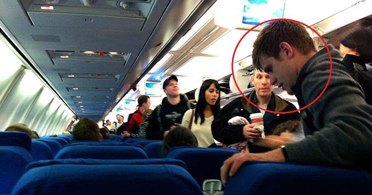 eca09cebaaa9 ec9786ec9d8c 61.png?resize=1200,630 - Él engaña a una oficial para que tome su asiento en primera clase. Otro pasajero lo captura y publica en Facebook.