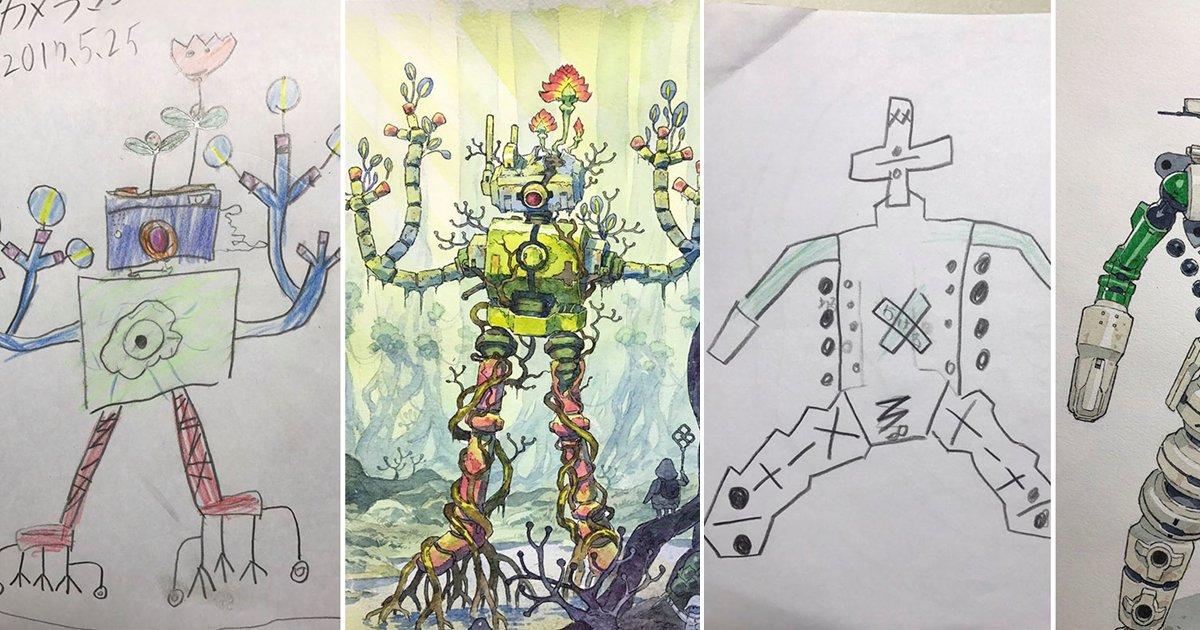 eca09cebaaa9 ec9786ec9d8c 65 - He Turns His Son's Doodles Into Amazing Artwork