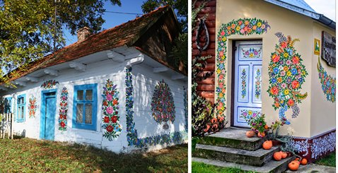 ecbaa1ecb298 13 - Everything Is Covered In Colorful Flower Paintings In Little Polish Village