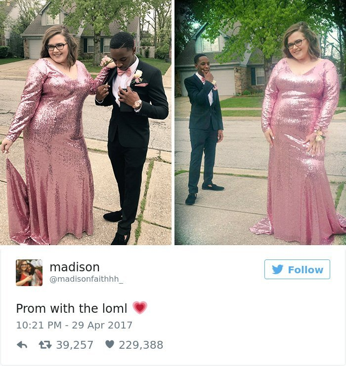 girlfriend fat shamed prom responses tre booker 17 - Boy Shouts His Love Loud And Clear When Someone Called His Girlfriend FAT