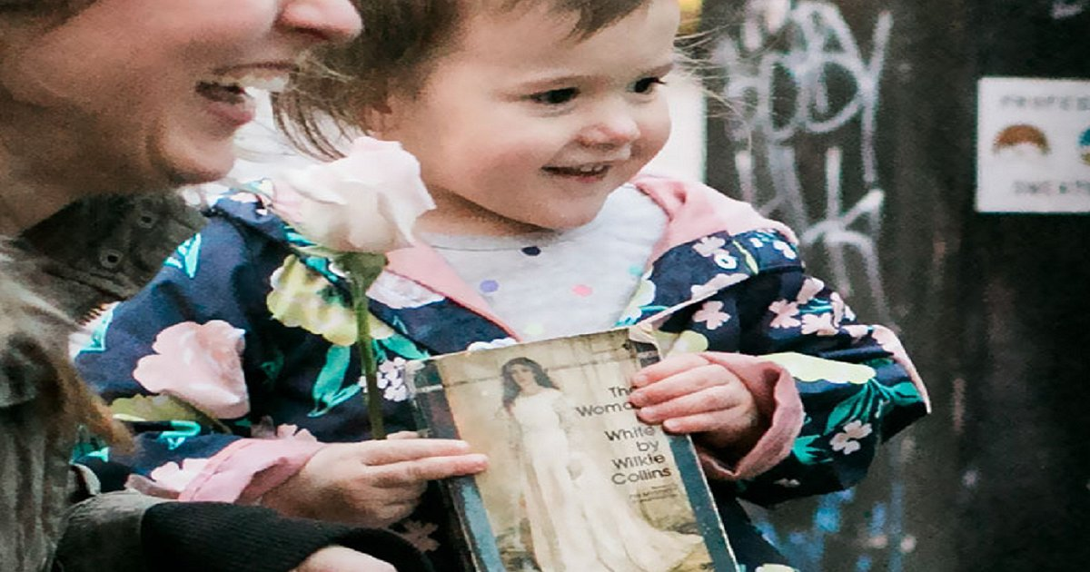 girl - Little Girl Seeing A Princess From Her Favorite Book in Real Life