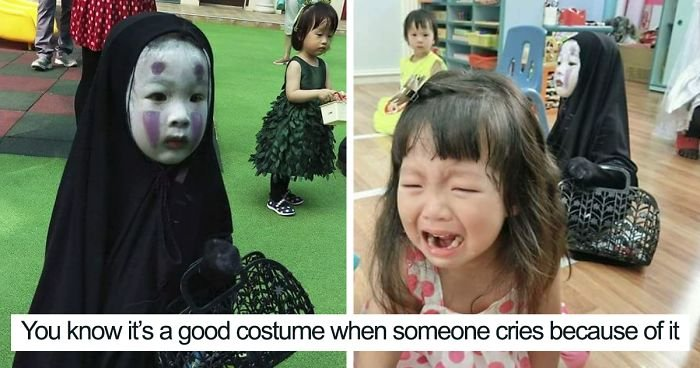 kindergartener girl death note l ryuk halloween costume fb7  700 png.jpg?resize=648,365 - Taiwanese Kindergartner Who Won Last Year's Halloween With No-Face Costume Surprises Everyone Again