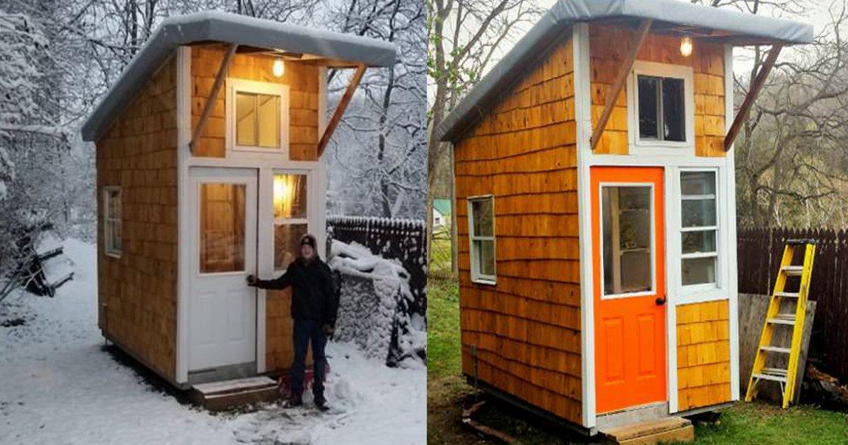 lklklk - Garoto de 13 anos constrói sozinho uma pequena casa em seu quintal!