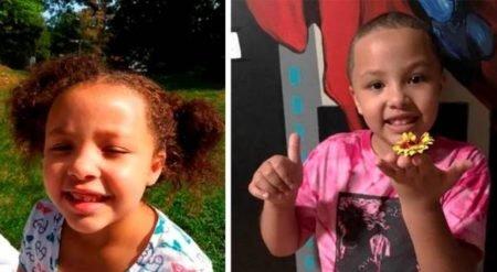"""menina 7 anos 450x247.jpg?resize=412,232 - Funcionários de escola raspam cabelo de menininha por causa de """"higiene"""""""