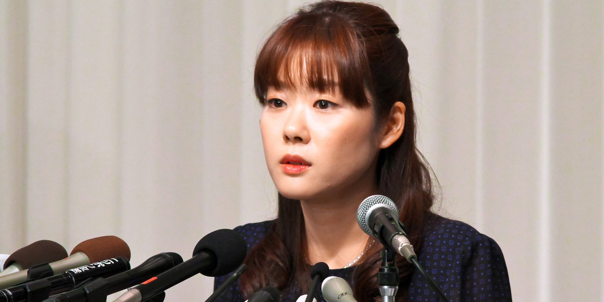 Haruko Obokata, a researcher at Riken research institution, attends a news conference in Osaka, Japan, on Wednesday, April 9, 2014. Japans Riken research center said on April 1 some data were falsified in a pair of studies that had outlined a simpler, quicker way of making stem cells. Obokata, who had led the studies, told reporters today she was able to replicate STAP stem cells more than 200 times. Photographer: Tetsuya Yamada/Bloomberg via Getty Images
