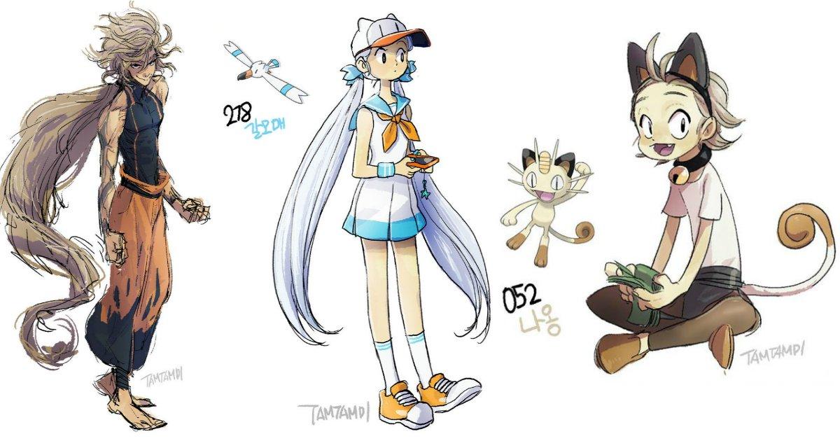 pokemon.jpg?resize=1200,630 - Artista desenha Pokémons como humanos. Confira!