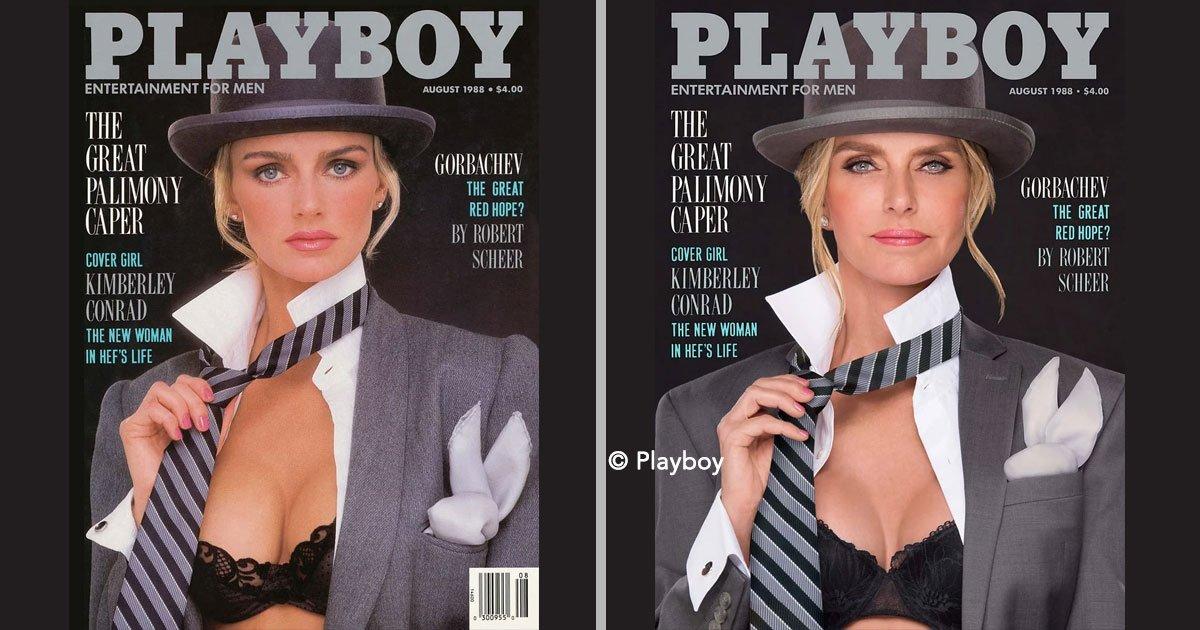 portada 50.jpg?resize=1200,630 - 7 conejitas de Playboy recrean portadas de la revista 30 años después y todas se ven realmente hermosas