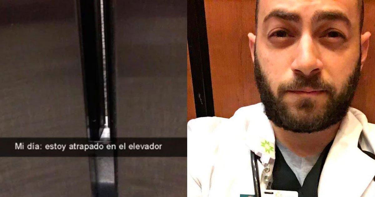 portada 57.jpg?resize=1200,630 - Un estudiante de medicina quedó atrapado en un elevador, lo que hizo en espera de salir es increíble