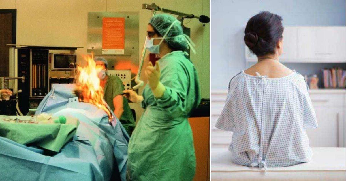 qerewr.jpg?resize=1200,630 - 수술 중 몸에 '불' 붙은 여성…놀랍게도 그 이유는 그녀의 '방귀'