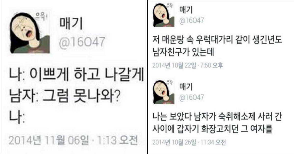 qewreqwr - 드립의 여왕&팩력배 '매기'의 재미있는 트윗 모음 14