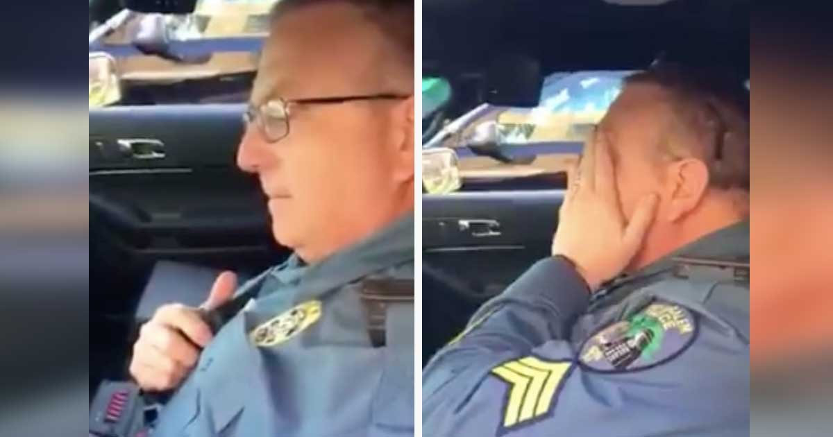 salem city police sergeant retires 1 1.jpg?resize=300,169 - Police Officer Retires After 28 Years. Gets Emotional When He Hears His Son's Voice Unexpectedly