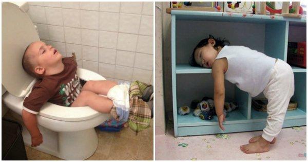 sleep.jpg?resize=412,232 - 15 Hilarious Photos That Prove Kids Really Can Sleep Anywhere
