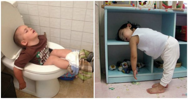sleep.jpg?resize=648,365 - 15 Hilarious Photos That Prove Kids Really Can Sleep Anywhere