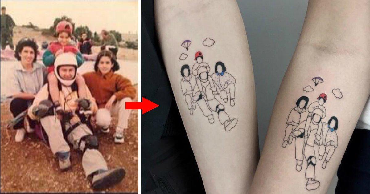 tattofin.jpg?resize=1200,630 - Artista transforma fotos nostálgicas da infância em belíssimas tatuagens