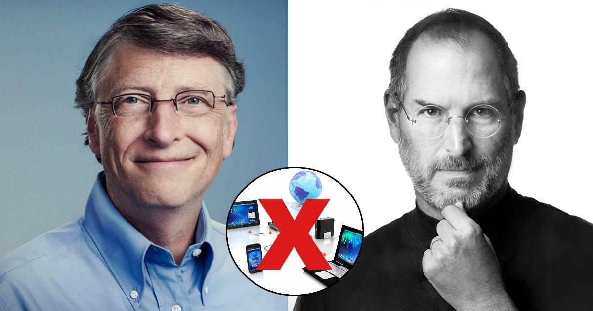 tech 1.jpg?resize=1200,630 - O poder viciante das mídias sociais fez com que os filhos de Bill Gates e Steve Jobs crescessem sem acesso a tecnologias