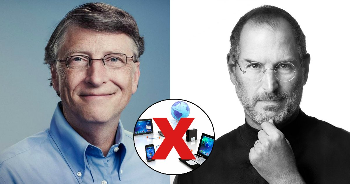 tech 1.jpg?resize=412,232 - O poder viciante das mídias sociais fez com que os filhos de Bill Gates e Steve Jobs crescessem sem acesso a tecnologias
